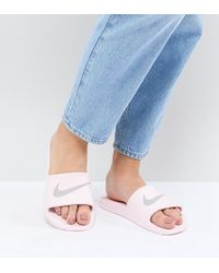 Nike Kawa Sliders In Pink