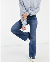 Urban Bliss Jeans dritti a zampa lavaggio medio - Blu
