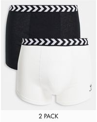 Hummel Classic 2-pack Boxer Shorts - Black
