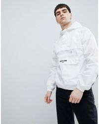 Sixth June - Hooded Windbreaker In White - Lyst