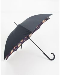 Fulton Bloomsbury Midnight Bloom Umbrella - Black