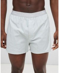 Calvin Klein - Woven Boxers In Traditional Fit - Lyst