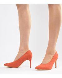 Haut Chaussures Talon Mi Orange À 6gbyf7