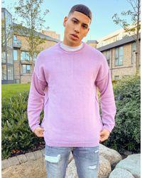 Bershka Сиреневый Джемпер Двойного Крашения -фиолетовый - Пурпурный