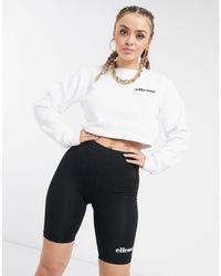 Ellesse Cropped Sweater & legging Short Set - Black