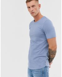 Jack & Jones Essentials - Lang T-shirt - Blauw