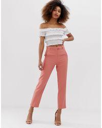 Miss Selfridge Cigarette Pants - Pink