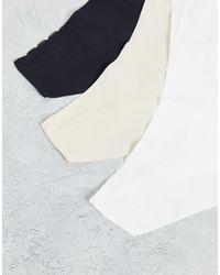 Lindex - Набор Из 3 Бесшовных Бразильских Трусов С Кружевной Отделкой Черного, Белого И Бежевого Цветов -multi - Lyst