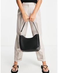ASOS Large Curved Tote Bag With Chain Link - Black