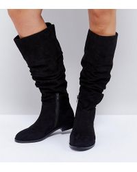 ASOS - Capital Slouch Knee Boots - Lyst