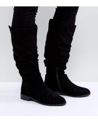 ASOS Asos Capital Slouch Knee Boots - Black