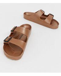 cf132bbe12b Birkenstock Arizona Eva Metallic Sandals In Silver in Metallic for ...
