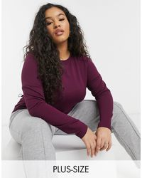 Simply Be Gathe Jumper - Red