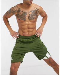 adidas Originals Adidas Training 3 Bar Logo Shorts - Green