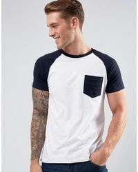 French Connection - Raglan T-shirt With Pocket - Lyst