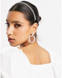 ASOS Headband With Crystal Embellishment - Multicolour