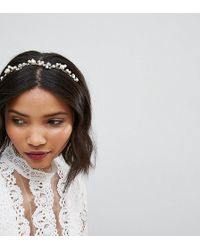 LoveRocks London - Pearl & Rhinestone Cluster Headband - Lyst