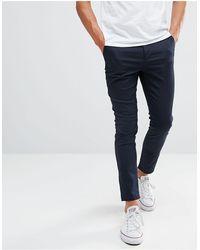 ASOS Chino cropped super skinny blu navy