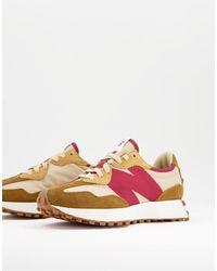 New Balance Кроссовки Светло-коричневого И Розового Цветов 327-серый