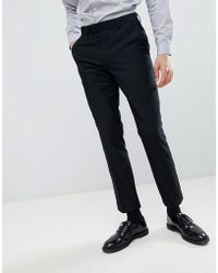 French Connection - Slim Fit Peak Collar Tuxedo Trousers - Lyst