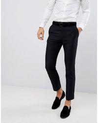 French Connection Pantalones de esmoquin de corte slim con detalle de pico - Negro