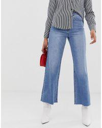 Vero Moda High Waist Wide Leg Jeans - Blue