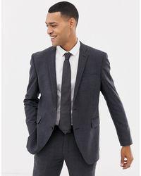 Esprit Slim Fit Commuter Suit Jacket - Gray
