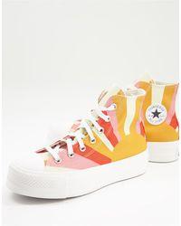Converse Chuck taylor lift sunshine - sneakers arancioni - Rosa