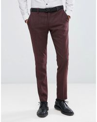 SELECTED - Skinny Suit Trousers In Twisted Yarn - Lyst
