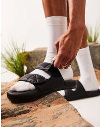ASOS Padded Two Strap Sandal - Black