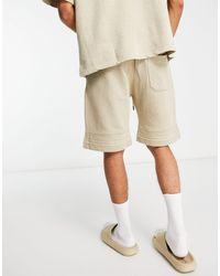 Pull&Bear Join Lifeco-ord Sweat Shorts - Natural
