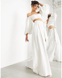 ASOS Pantalones color marfil - Blanco