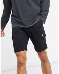 Threadbare Shorts s en tejido - Negro
