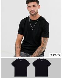 TOPMAN T-shirt With Crew Neck 2 Pack Multipack - Black