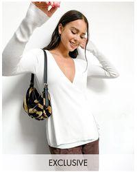Native Youth Cache-cœur en maille douce et transparente - Blanc