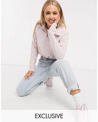 Columbia - Розовая Короткая Флисовая Куртка С Молнией 1/4 Эксклюзивно Для Asos-розовый Цвет - Lyst