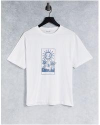 Chelsea Peers T-shirt confort avec imprimé soleil - Blanc