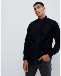 83c2562719 Emporio Armani Velvet Slim Fit Grandad Collar Shirt With All Over ...