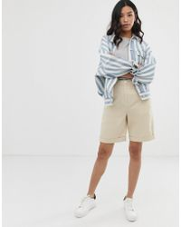 ASOS Utility City Short In Bone - Natural
