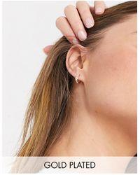 Shashi - Encrusted huggy Hoop Earrings - Lyst