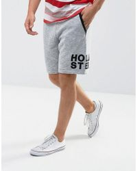 Hollister Sweat Shorts Leg Logo In Gray