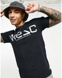 Wesc Max - t-shirt à logo réfléchissant - Noir