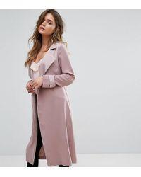 Miss Selfridge Smart Duster Coat - Pink