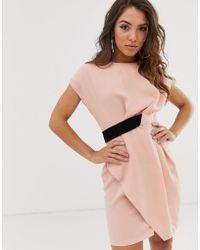 ASOS - Origami - Midi-jurk Met Label Opzij - Lyst