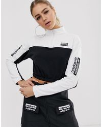adidas Originals RYV - Sweat-shirt court - et blanc - Noir