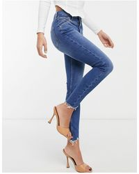 River Island High Rise Skinny Jeans - Blue