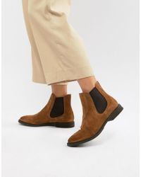 SELECTED - Suede Chelsea Boots - Lyst