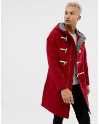 Pull&Bear - Manteau en laine avec boutons style duffle-coat - Lyst
