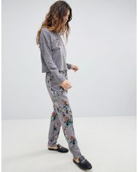 Soaked In Luxury - Floral Suit Trouser - Lyst