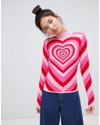 Lazy Oaf All My Heart Sweater - Pink